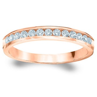Amore Rose Gold 1/4ct TDW Channel-set Diamond Wedding Band (G-H, SI1-SI2)