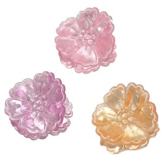 Mini 1-inch Plastic Assorted Hawaii Flower Spring Hair Clips (Pack of 144)