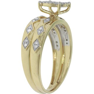 14K White or Yellow Gold 1/4ct TDW His and Hers Matching Bridal Set GH/I1-I2 (3 options available)