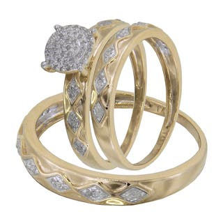 buy his her sets engagement rings online at overstock com our