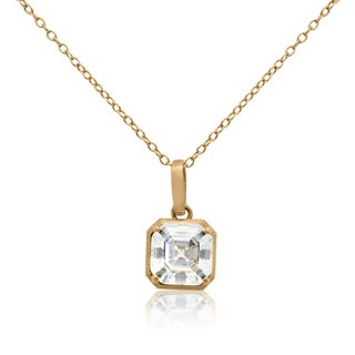 Gioelli 14kt Yellow Gold 3ct TGW Cubic Zirconia Pendant Necklace