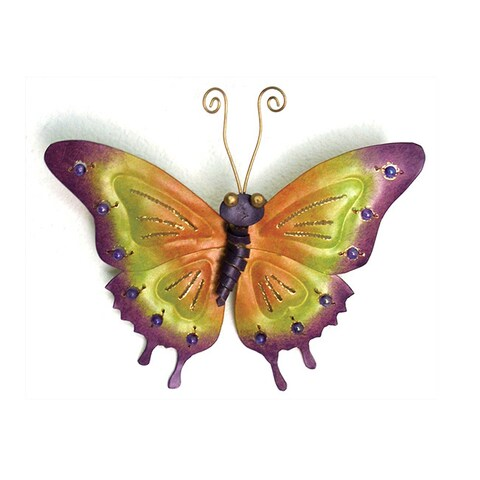 Butterfly with Beads Figurine, Handmade in Indonesia