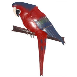 Iron Red Parrot Wall Décor (Indonesia)
