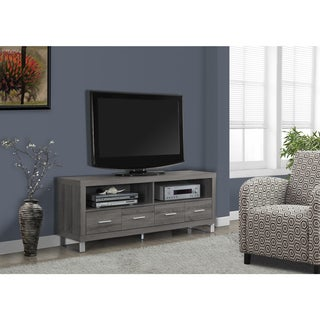 Dark Taupe Reclaimed Appearance 60-inch 4-drawer TV Console