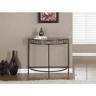 Chocolate Brown Metal Hall Console Accent Table