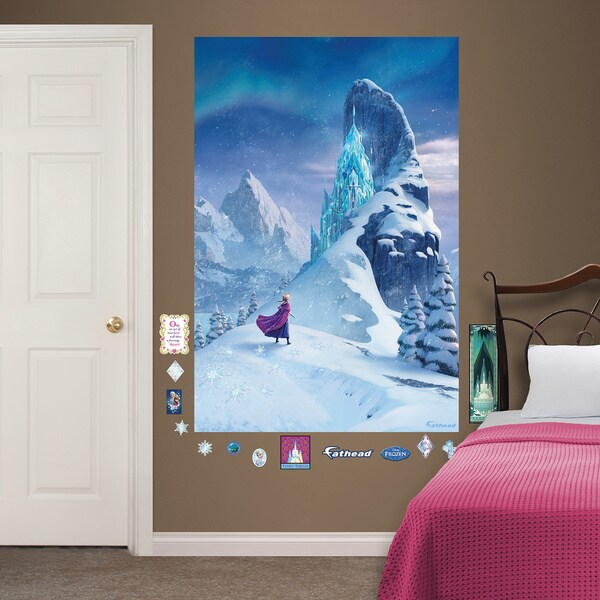 Fathead Snow Queen Elsau0026#x27;s Castle Frozen Wall Decals