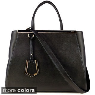 Fendi '2Jours' Medium Leather Shopping Tote