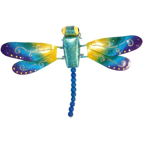 D-Art Collection Iron Dragonfly Wall Decor