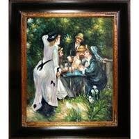 Pierre-Auguste Renoir 'In The Garden' Hand Painted Framed Canvas Art