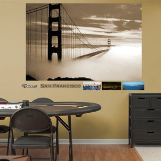 Fathead Golden Gate Bridge Fog Mural Wall Decals