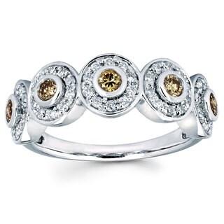 Boston Bay Diamonds 14k White Gold 5/8ct TDW Diamond Fashion Ring