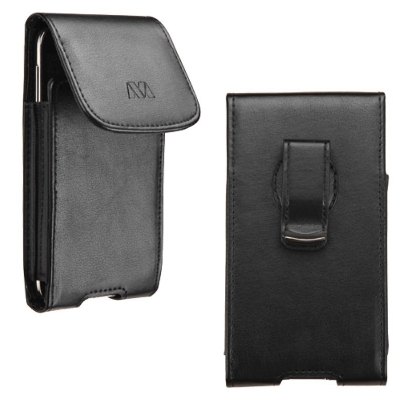 Insten Black Vertical Pouch with Magnetic Flip Belt Clip ...