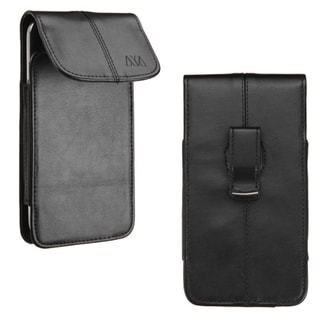 Insten Black Vertical Pouch with Magnetic Flip Belt Clip for Apple iPhone 6+/ Samsung Galaxy Note 4