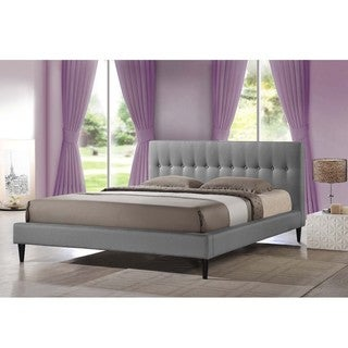 Baxton Studio Lily Modern Button Tufted Platform Bed Queen Size