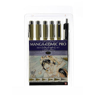 Sakura Manga-Comic Pro sketching & inking set of 6 (Pack of 2)