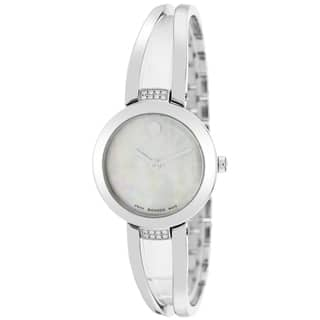 Movado Women's 0606813 Amorosa Round Silver Bracelet Watch https://ak1.ostkcdn.com/images/products/9673810/P16853962.jpg?impolicy=medium