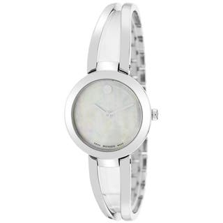 Movado Women's 0606812 Amorosa Round Silver Bracelet Watch https://ak1.ostkcdn.com/images/products/9673812/P16853963.jpg?impolicy=medium