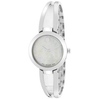 Movado Women's Amorosa Round Silver Bracelet Watch