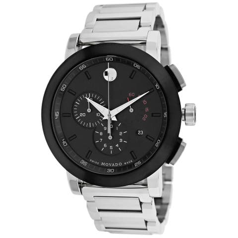 Movado Men's 0606792 'Museum Sport' Chronograph Stainless Steel Watch