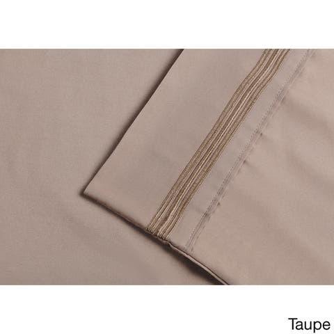 Superior Embroidered Microfiber Deep Pocket Bed Sheet Set