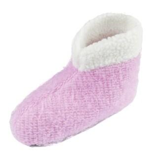 Leisureland Women's Solid Bootie Slippers