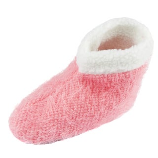 Leisureland Women's Solid Bootie Slippers