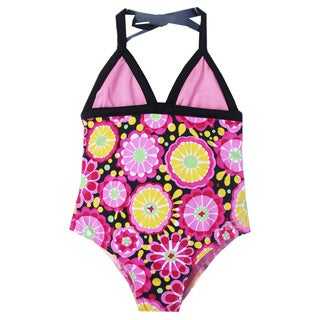 Azul Swimwear Girls' 'Fresh Blossom' Halter One Piece
