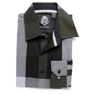 English Laundry Men's Green Woven Button-down Shirt