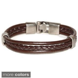 Handmade Triple Strap Genuine Leather Bracelet (Thailand)