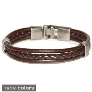 Handmade Triple Strap Genuine Leather Bracelet (Thailand)