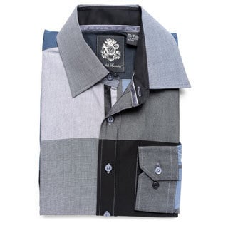 English Laundry Men's Blue Woven Button-down Shirt