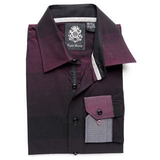 English Laundry Men's Plum Woven Button-down Shirt