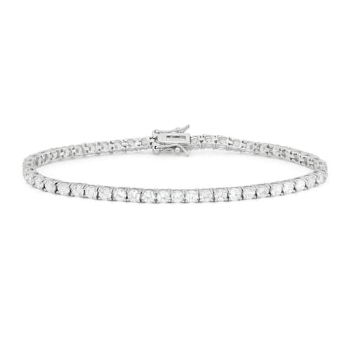 Gioelli Sterling Silver 5.5 TCW Round-cut Cubic Zirconia Tennis Bracelet