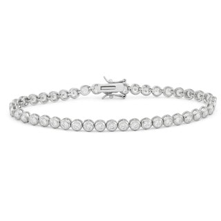 Gioelli Sterling Silver 4.75 TCW Round-cut Cubic Zirconia Link Tennis Bracelet