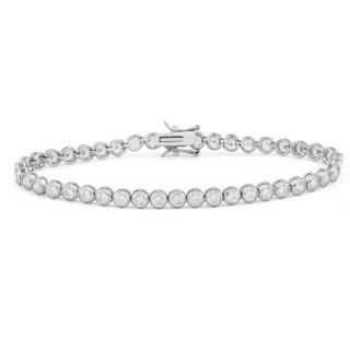 Gioelli Sterling Silver 4.75 TCW Round-cut Cubic Zirconia Link Tennis Bracelet