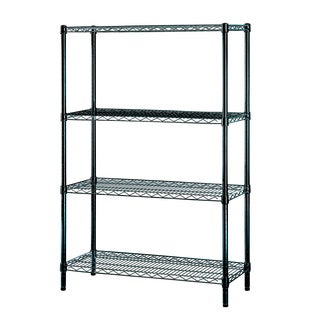 Excel Black Multi-Purpose 4-tier Wire Shelving