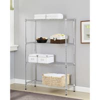 Excel Chrome Multi-Purpose 4-Tier Wire Shelving