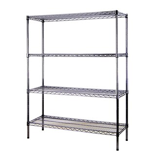 Excel Black Multi-Purpose 4-tier Wire Shelving (60 in. H x 48 in. W x 18 in. D)