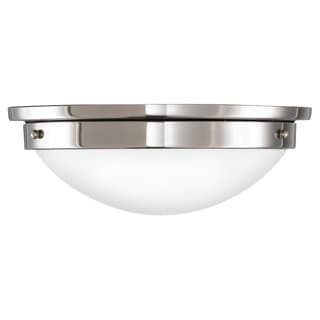American Foursquare Ceilg-light Polished Nickel 2-light Flush Mount Fixture