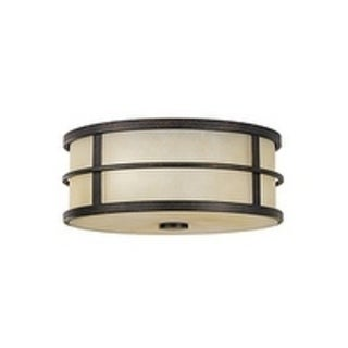 Fusion Grecian Bronze 2-light Flush Mount Fixture