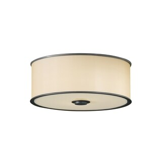 Casual Luxury Dark Bronze 2-light Flush Mount Fixture