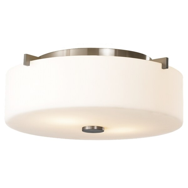 Sunset Drive Brushed Steel 2-light Flush Mount Fixture
