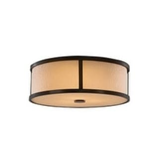 Preston Heritage Bronze 3-light Flush Mount Fixture