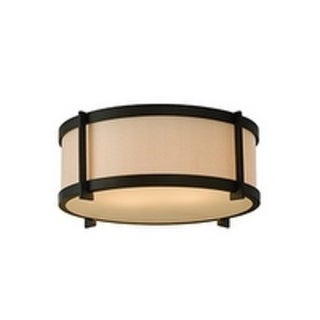 Stelle Oil Rubbed Bronze 2-light Flush Mount Fixture