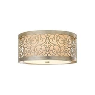 Arabesque Silver Leaf Pata 2-light Flush Mount Fixture