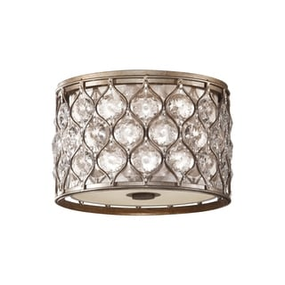 Lucia Burnished Silver 2-light Flush Mount Fixture
