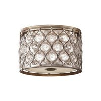 Feiss Lucia 2 - Light Indoor Flush Mount, Burnished Silver