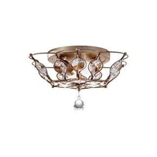 Feiss Leila 2 - Light Indoor Flush Mount, Burnished Silver