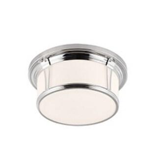 Feiss Woodward 3 - Light Woodward Flushmount, Polished Nickel