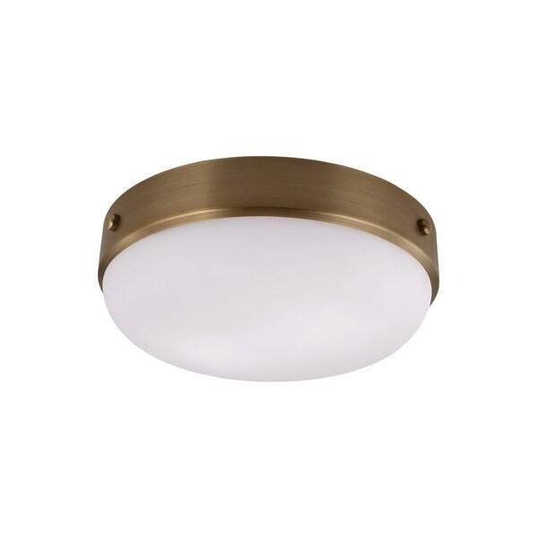 Feiss Cadence 2 - Light Indoor Flushmount, Dark Antique Brass